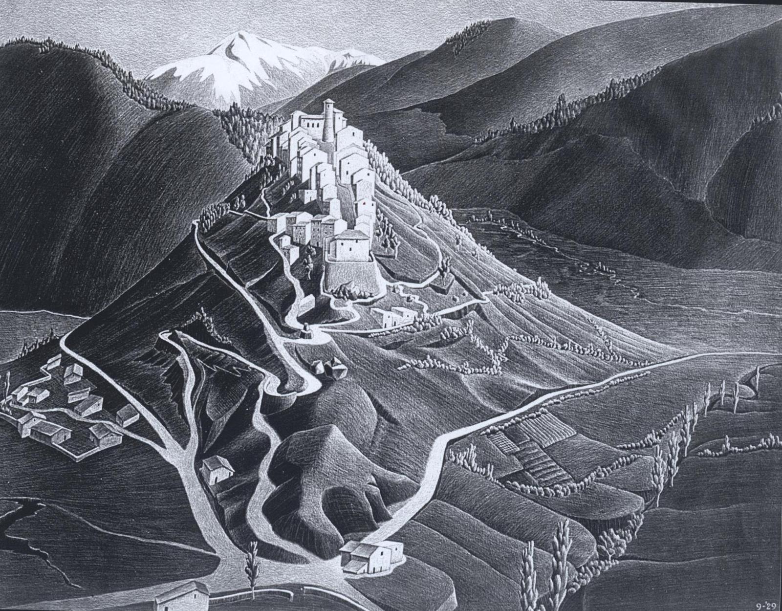 Escher e l'Abruzzo, un viaggio nella bellezza