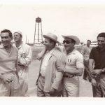 Castellotti e Musso con Fangio e De Portago